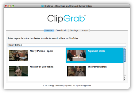 ClipGrab Screen shot